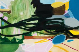 Sin título (Landscape with blue), 2013. Óleo sobre lienzo, 200 x 170 cm