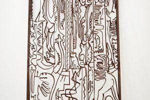 San Ranieri II, 2019.  Acero corten. 300 x 150 x 10 cm.