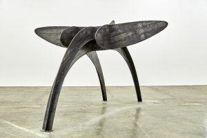 Elefante, 2019. Corte en lámina de acero, 250 x 420 x 440 cm
